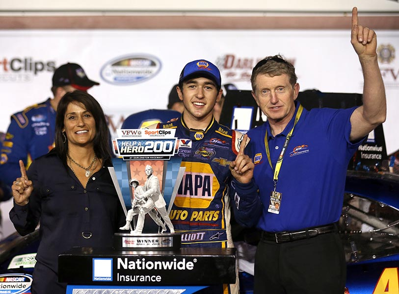 Back to Back Nationwide Series Wins